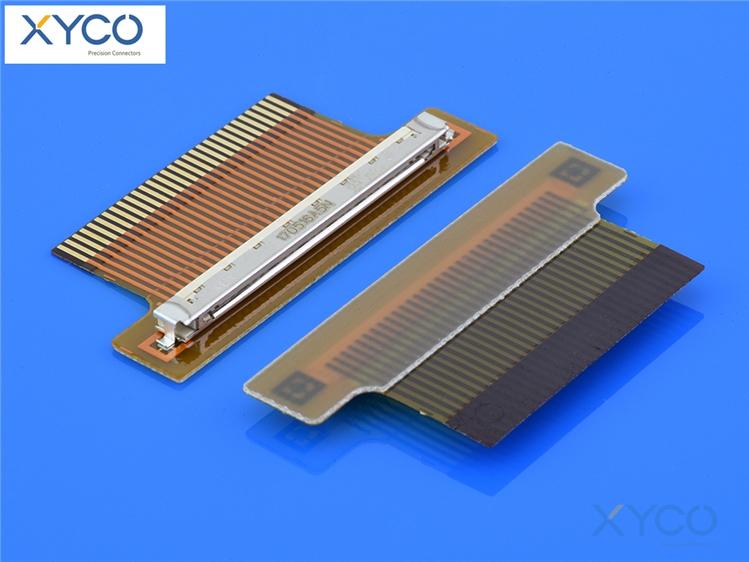 1.0mm间距fi-x fpc连接器