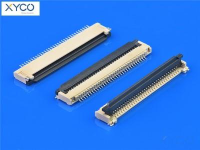 0.8mm 前掀式带扣H2.0 fpc连接器