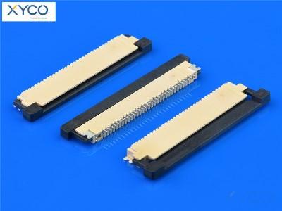 0.8mm 上接触带扣H2.0 fpc连接器