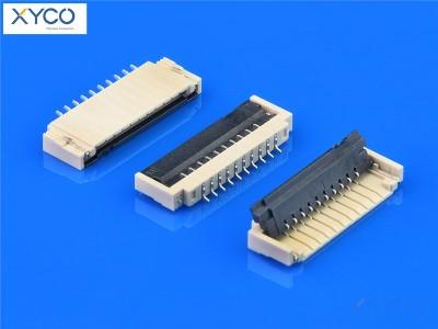 1.0mm 前掀式带扣H1.8 fpc连接器