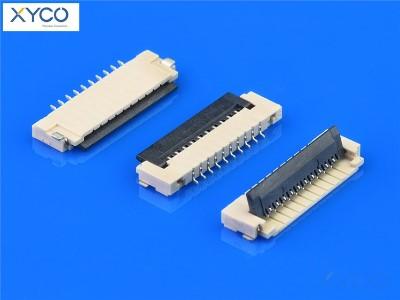 1.0mm 前掀式带扣H1.5 fpc连接器