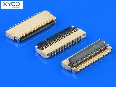 0.3mm 前掀式H1.0 fpc连接器