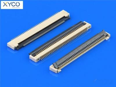 0.5mm 前掀式带扣 H1.2 fpc连接器