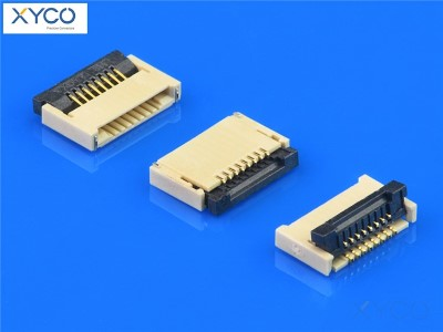 0.5mm 前插后掀式带扣H1.2 fpc连接器