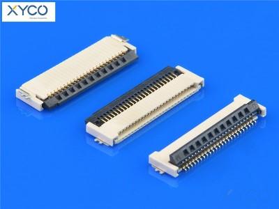 0.5mm 前插后掀式H1.2 fpc连接器
