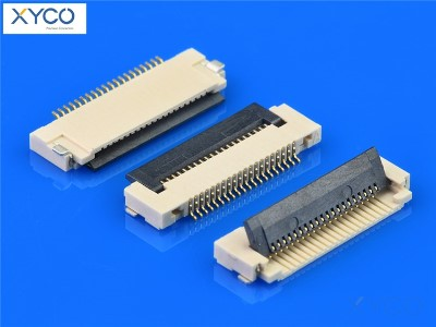 0.5mm 掀盖式带扣H1.5 fpc连接器