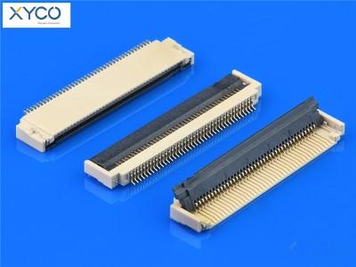 0.5mm 前掀式带扣 H1.8 fpc连接器