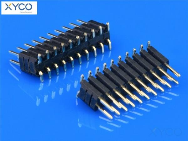2.0mm双排双塑SMT180°排针