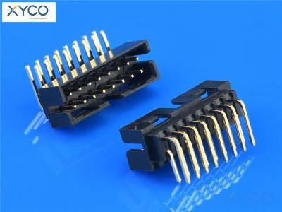 2.0mm H6.4 双排DIP90° 简牛