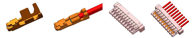 端子连接器的组成部分这三样缺一不可