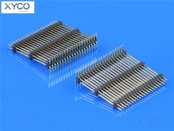 1.27mm双排三塑SMT180°排针