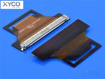 1.0mm间距fi-x带扣 fpc连接器